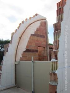 Replanteo de bóveda y colocación de paneles de yeso laminado