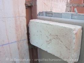 Detalle de colocación de los ladrillos macizos para ejecución de bñovedas norte