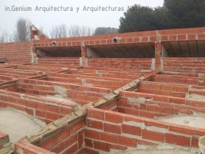 Foto 2. Desarrollo de las bóvedas sur de forma conjunta a la ejecución de las costillas.