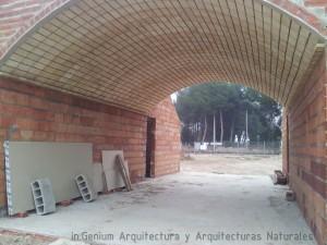 Foto 6. Vista general de la boveda del salón en todo su desarrollo