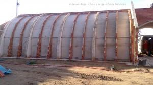 Foto 7. Vista general de la boveda del salón en todo su desarrollo