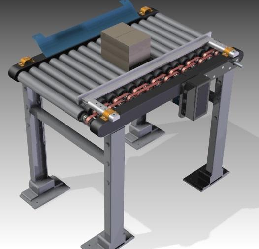 Detalle de una de las cintas transportadoras diseñadas con Solid Edge