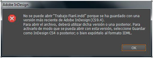 Adobe InDesign: problemas de compatibilidad | Blog SEAS