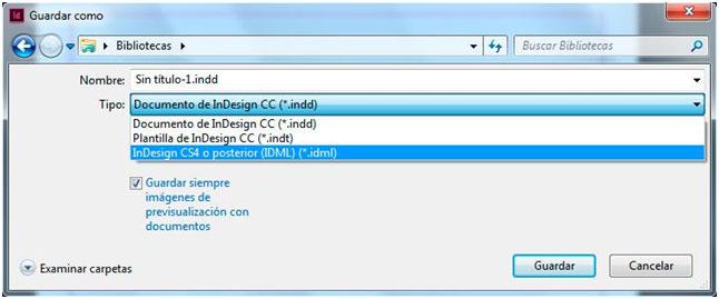 solucion incompatibilidad versiones indesign