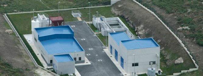 Vista aérea EDAR de San Ciprián