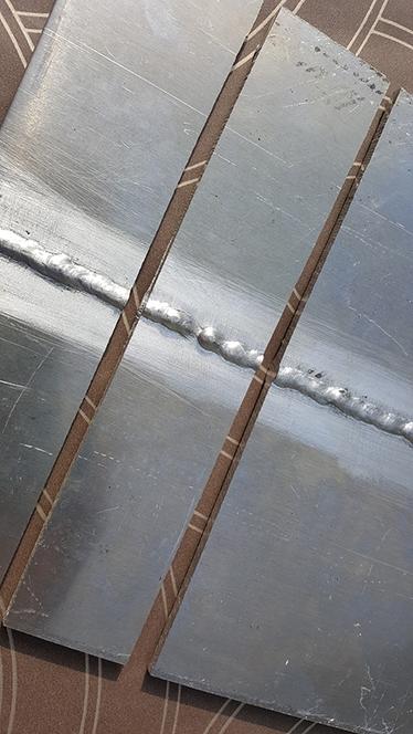 Extracción de la probeta de doblado