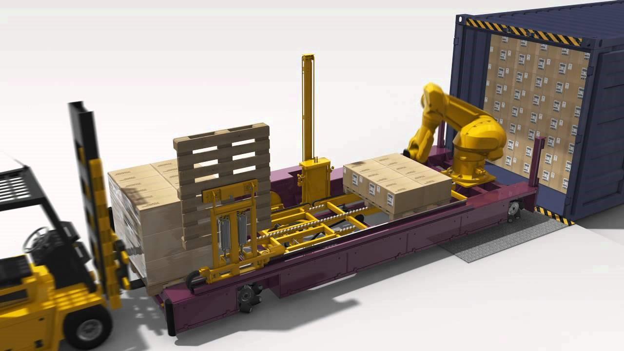 robot descarga de camiones