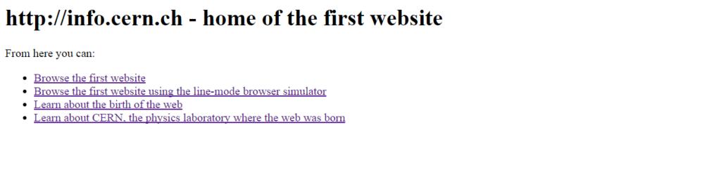 El primer sitio web