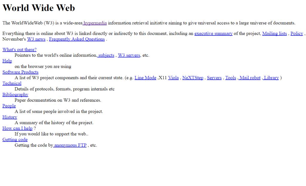 La primera página web