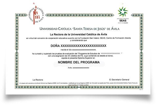 Titulación Cursos Superiores UCAV