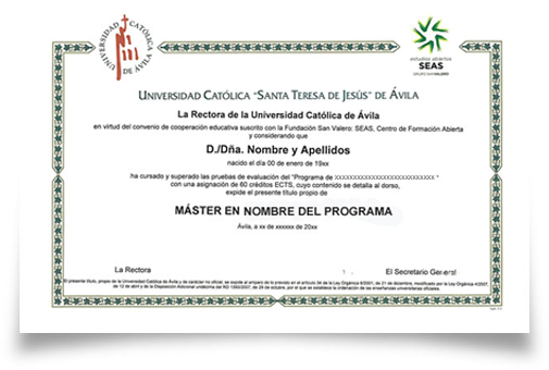 Titulo universidad de UCAV